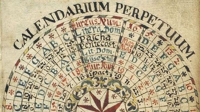 Ewiger Kalender (Julianisch) von 1690 aus Graubünden/CH