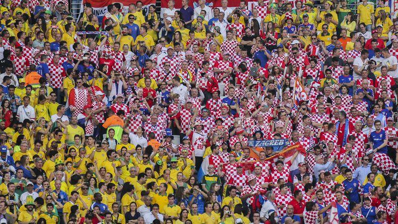 Brasilianische und kroatische Fans während des Eröffungsspiels der Fussball-WM.