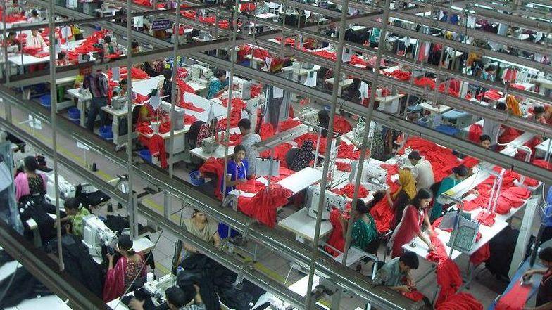 Eine Textifabrik in Bangladesch.