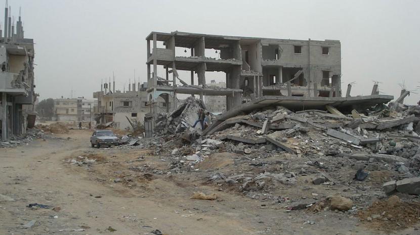 Zerstörte Gebäude in Gaza Stadt (Aufnahme von 2009).