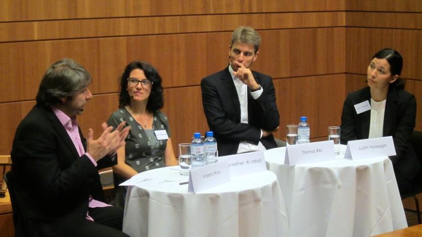 Vinzenz Wyss, Amira Hafner-Al Jabaji, Thomas Ribi und Judith Hardegger.