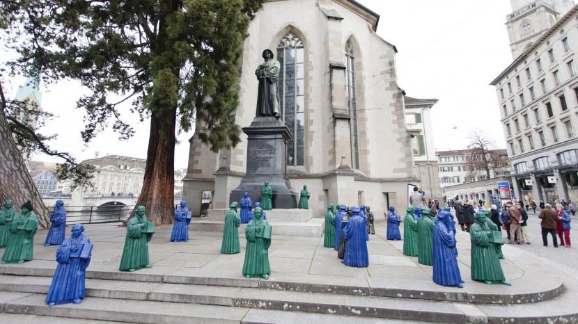 Luther trifft Zwingli.: Aktion der lutherischen Kirche Zürich zur 500-Jahr Feier der Reformation.