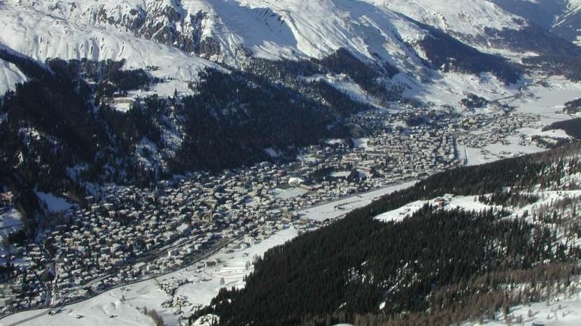 Davos aus der Luft.