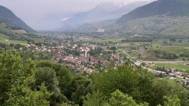 Das Dorf Chalais im Wallis.