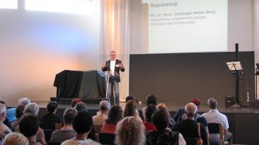 Der Aargauer Kirchenratspräsident Christoph Weber-Berg am Alterskongress in Aarau.