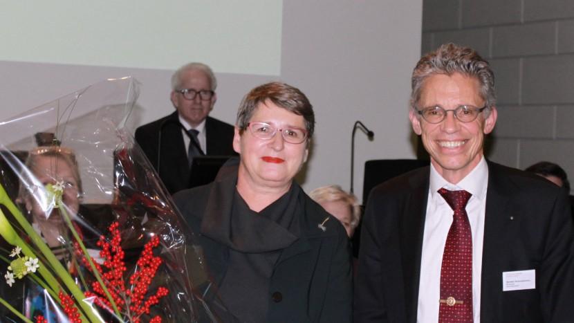 Die neue Synodalratspräsidentin Ursula Stämmer-Horst und Synodepräsident Norbert Schmassmann.