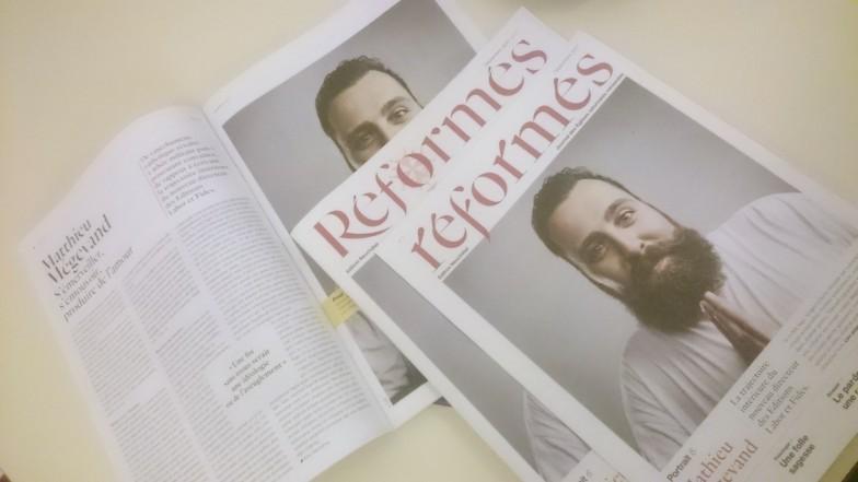 Prototyp der neuen Kirchenzeitung «Reformés».
