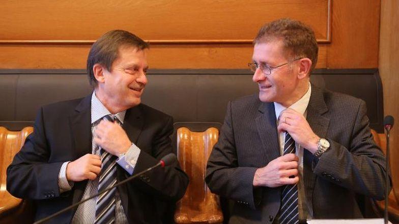 Im Gleichtakt: Andreas Zeller, Synodalratspräsident, und Christoph Neuhaus, Kirchendirektor und Regierungsrat.