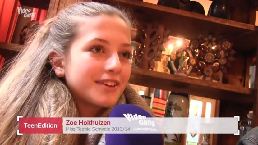 Zoë Holthuizen nach ihrer Wahl zur Miss Teenie.
