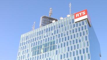 Der Hauptsitz von Radio Télévision Suisse (RTS) in Genf.