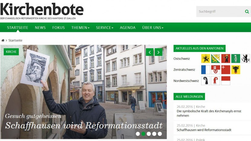 Die neue Website des St. Galler Kirchenboten.