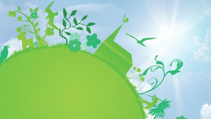 Ausschnitt aus dem Cover des oeku-Umwelthandbuchs «Es werde grün».