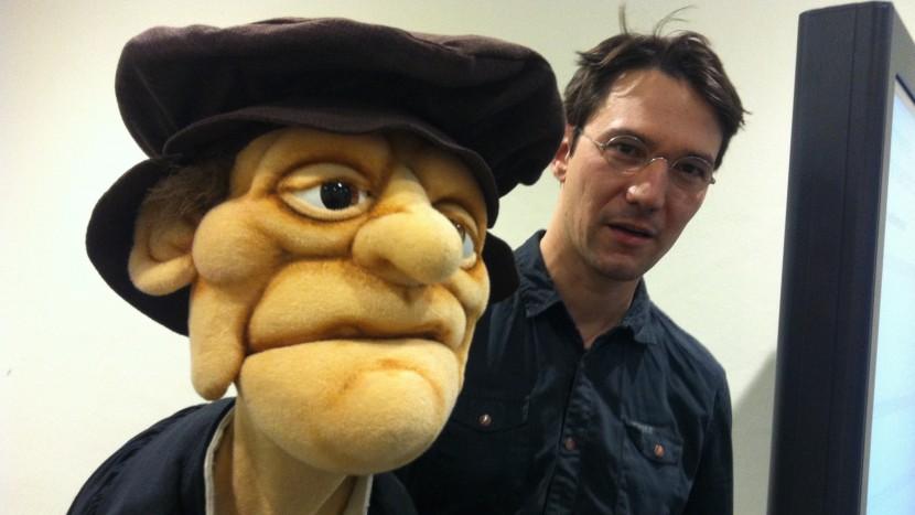 Zwingli als Puppe, geführt von Michael Schwyter.