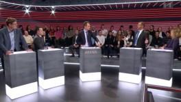 Wilf Gasser, Sebastian Frehner, Jonas Projer, Hans-Peter Portmann und Kathrin Bertschy (von links) diskutierten in der «Arena».