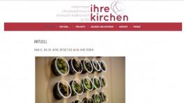 Screenshot des neuen Webauftritts.