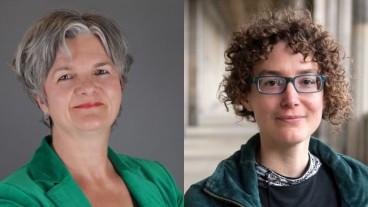Andrea Bieler (l.) erhält in Basel die Professur für Praktische Theologie, Sonja Ammann übernimmt den Lehrstuhl für Altes Testament.