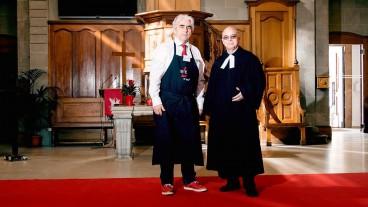 Pfarrer Jean Chollet (rechts) amtet nach wie vor in der Kirche St. Laurent in Lausanne – Pfarrer Daniel Fatzer (links) hingegen wurde wurde vom Synodalrat fristlos entlassen.