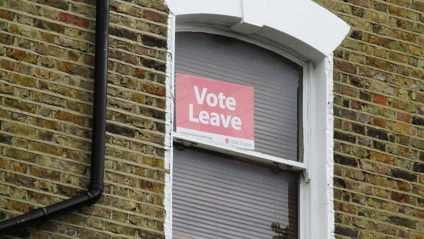 «Vote Leave»: Ein Fenster in London vor der Brexit-Abstimmung.