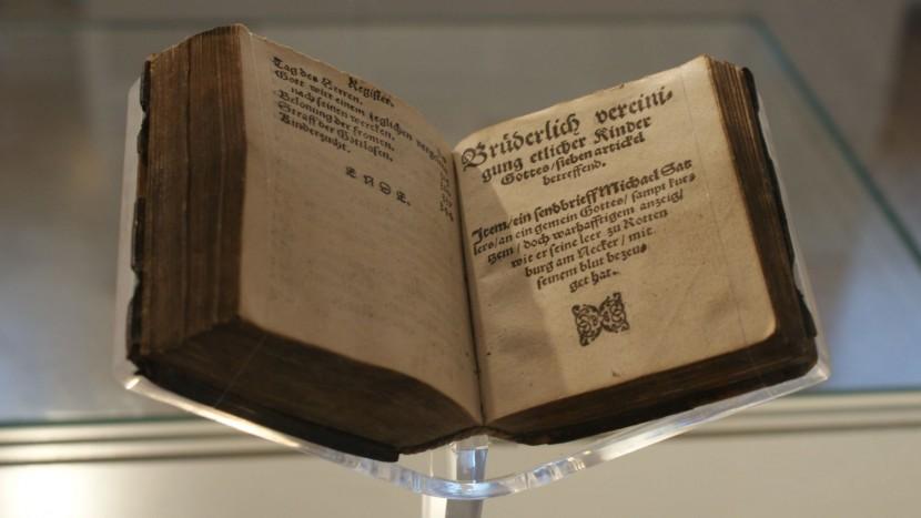 Der Originaldruck des «Schleitheimer Bekenntnisses» der Täufer aus dem Jahr 1550 führt Besucher aus der ganzen Welt in den Kanton Schaffhausen.