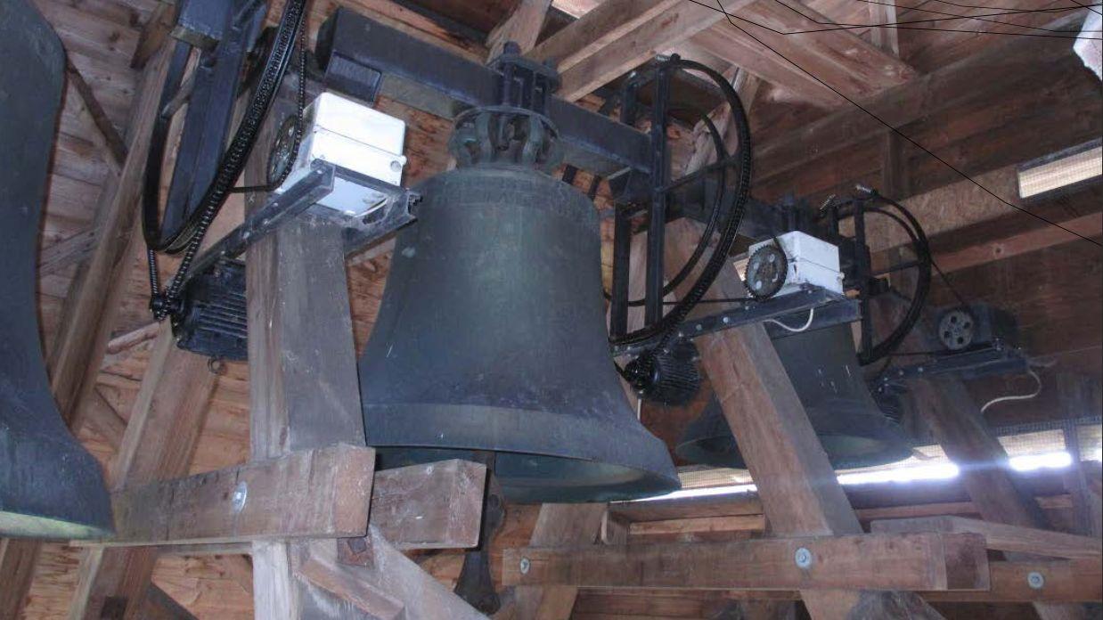 Die Glocken der reformierten Kirche St. Georgen in St. Gallen.