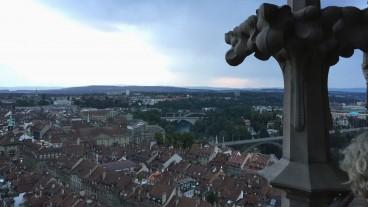 Münsterblick auf die Stadt und den Erdkreis.