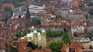 Das Stadtzentrum von Münster.