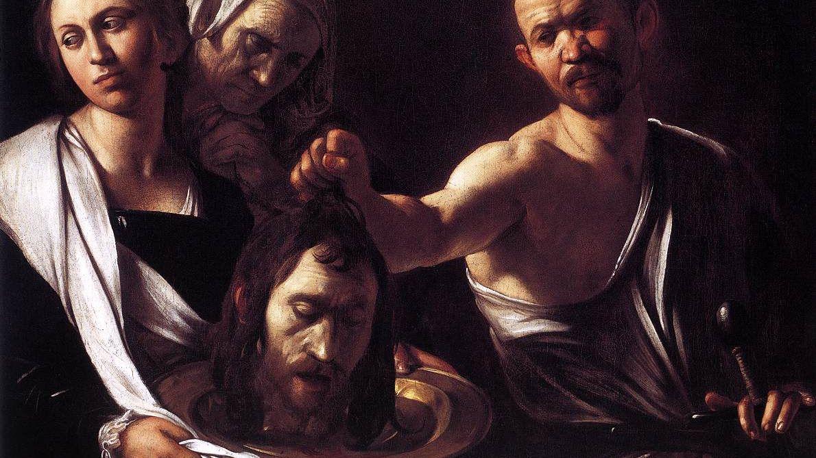 Gemälde von Caravaggio. Wie heisst der Hingerichtete, dessen Kopf hier auf der Schale liegt? Auflösung am Textende.