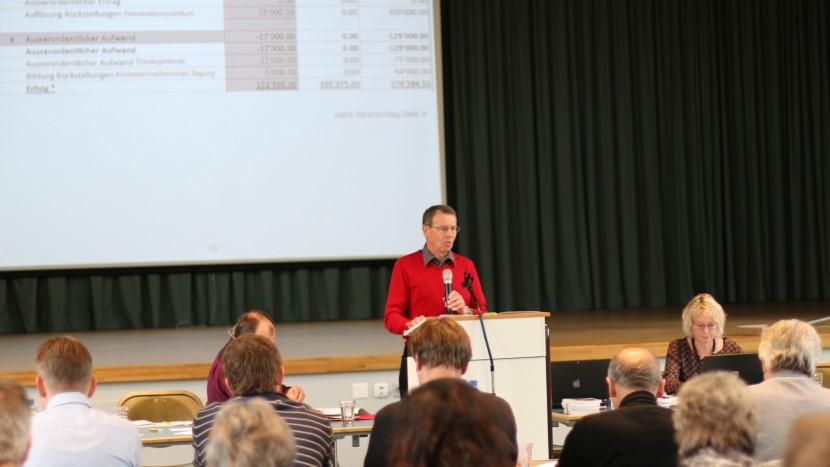 Finanzreferent Richard Rickli erläuterte den Finanzplan