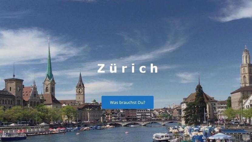Oberfläche der App der Zürcher Flüchtlingshilfe.