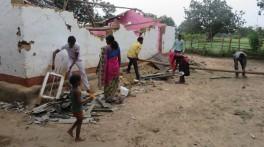 Eine zerstörte Kirche in Zentralindien.