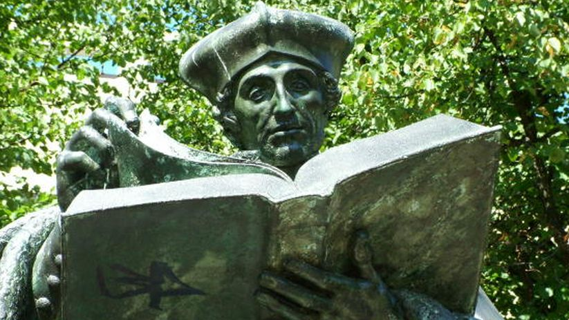 Ein Gelehrter, kein Mann der Tat: Erasmus-Denkmal in Rotterdam.