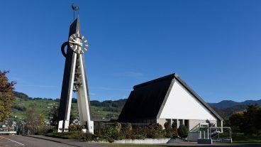 Die Reformierte Kirche von Buochs im Kanton Nidwalden.