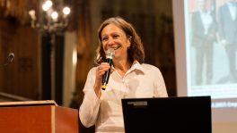 Lilo Roost Vischer während der Jubiläumsfeier 10 Jahre «Runder Tisch der Religionen beider Basel» in der Offenen Kirche Elisabethen.