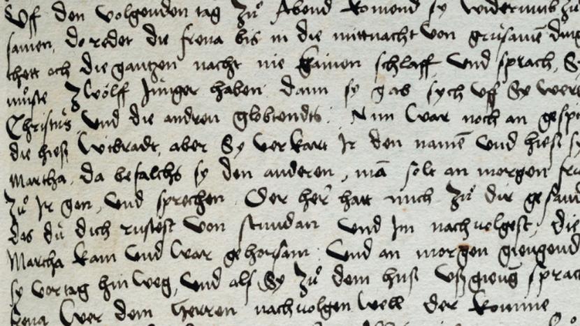 Auschnitt aus der Chronik des St. Galler Reformators Johannes Kessler.