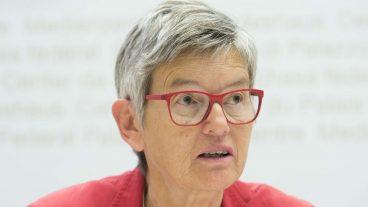 Dorothea Forster, Präsidentin der Evangelischen Frauen Schweiz, an einer Medienkonferenz der Frauendachverbände im Juni 2017 in Bern.
